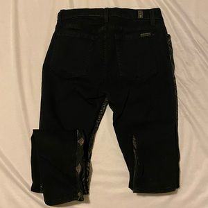 7 For All Mankind Jeans - 7 For All Mankind Black and Gold Jeans- Size 27
